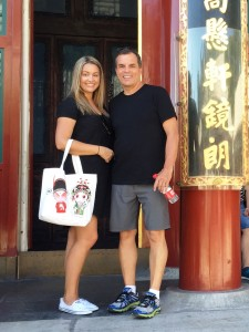With my daughter Samantha at the Summer Palace